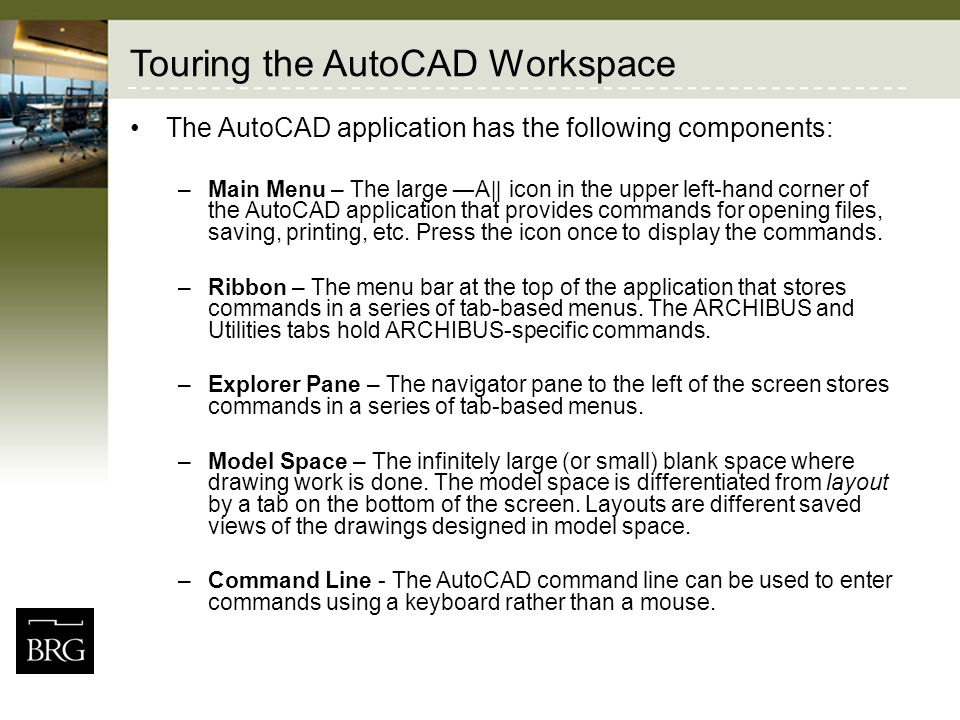 Touring the AutoCAD Workspace