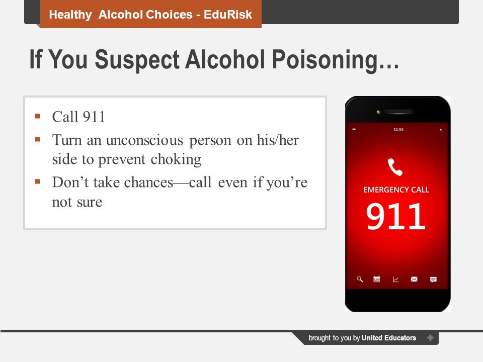 If You Suspect Alcohol Poisoning…