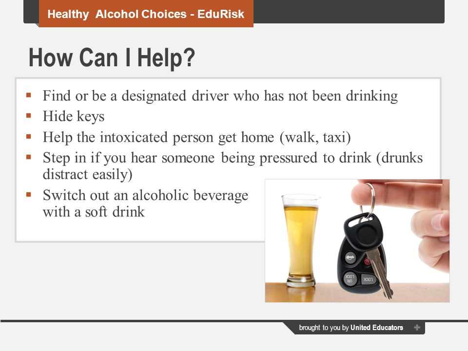 Healthy Alcohol Choices - EduRisk