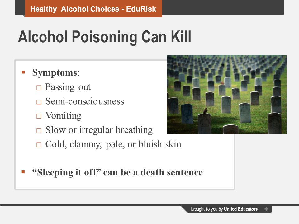 Alcohol Poisoning Can Kill