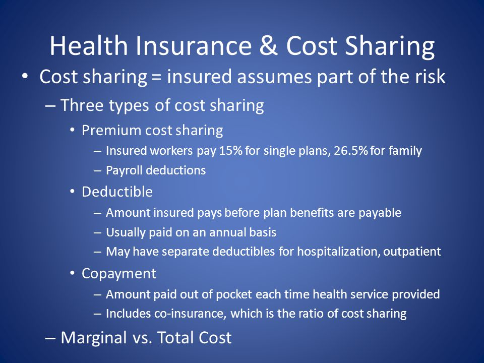 Health Insurance & Cost Sharing