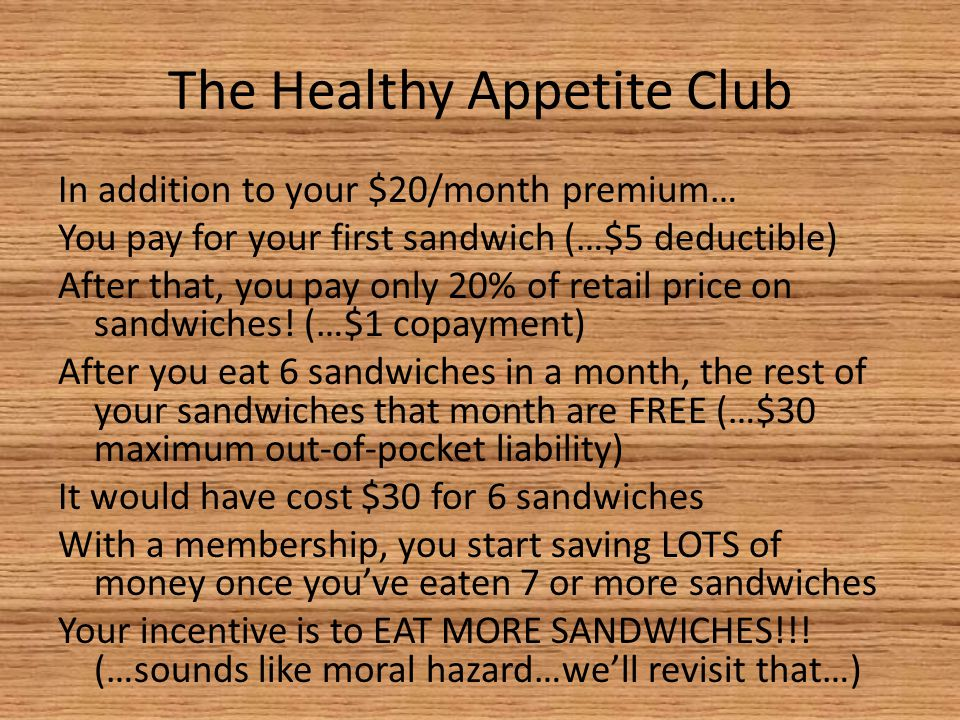 The Healthy Appetite Club