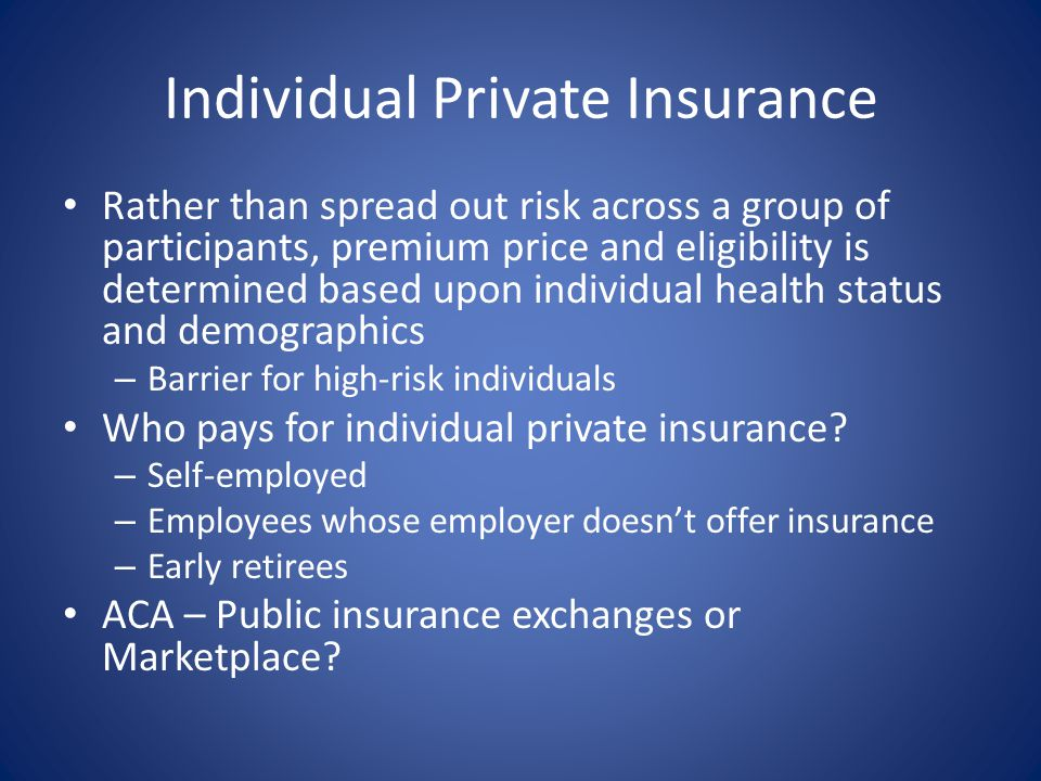 Individual Private Insurance