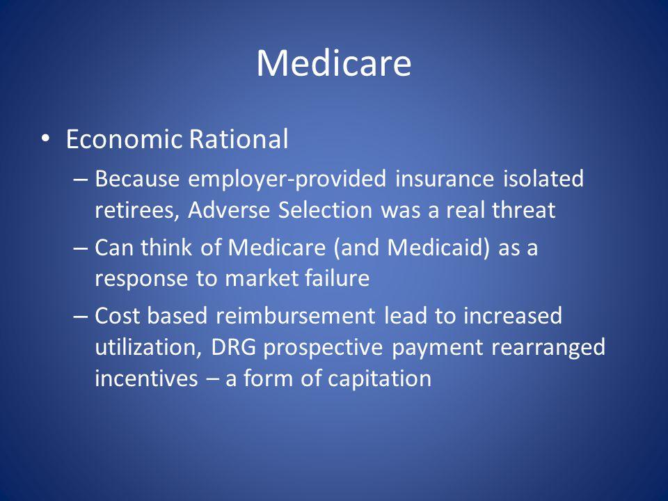 Medicare Economic Rational