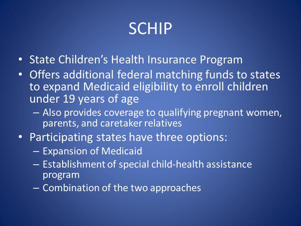SCHIP State Children's Health Insurance Program
