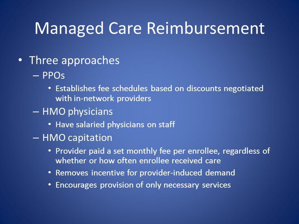 Managed Care Reimbursement