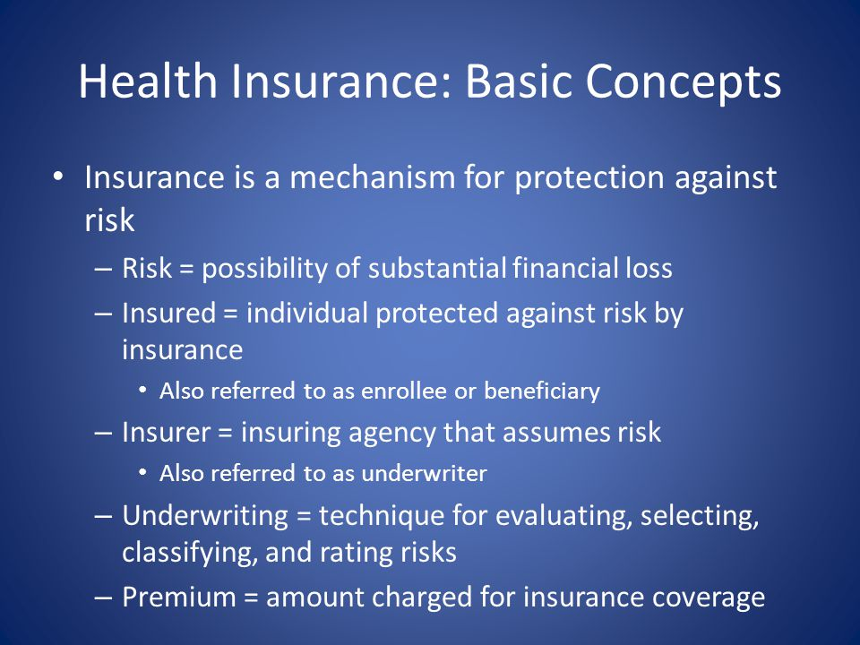 Health Insurance: Basic Concepts