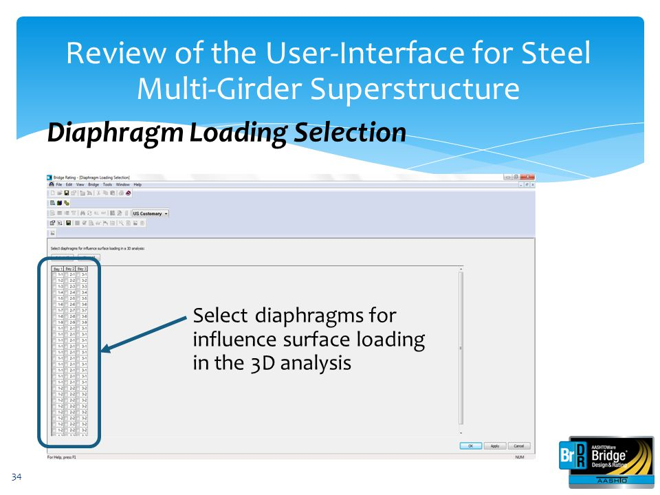Review of the User-Interface for Steel Multi-Girder Superstructure