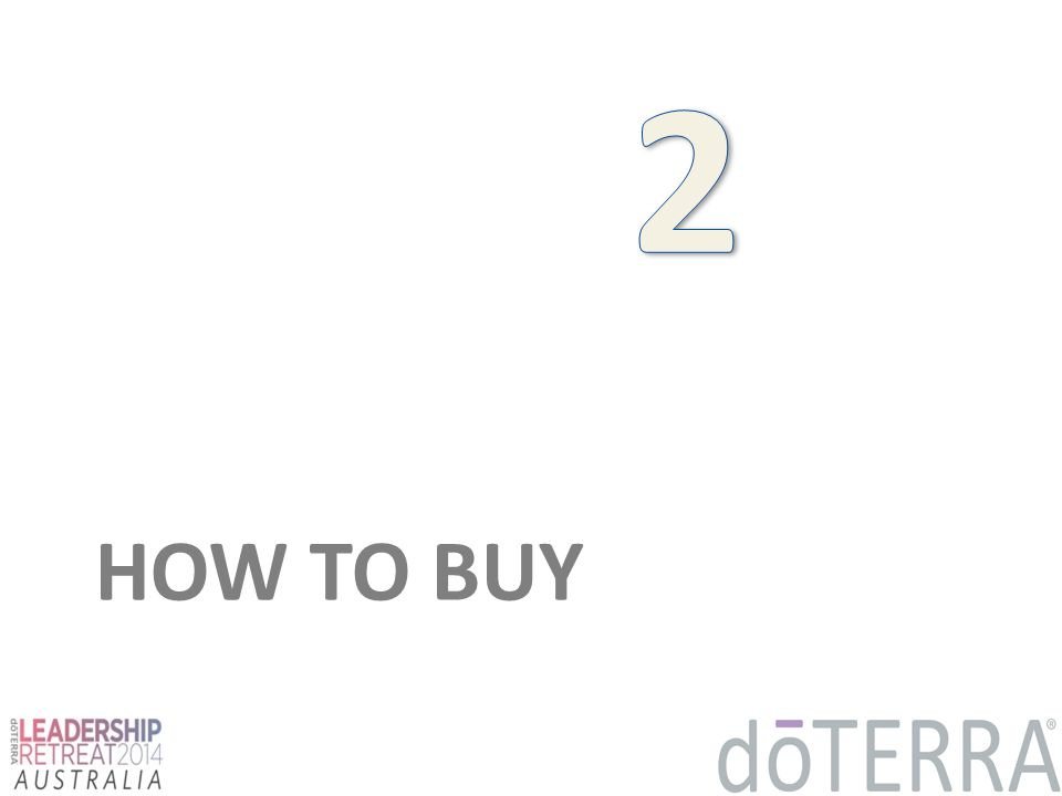 2 HOW TO BUY