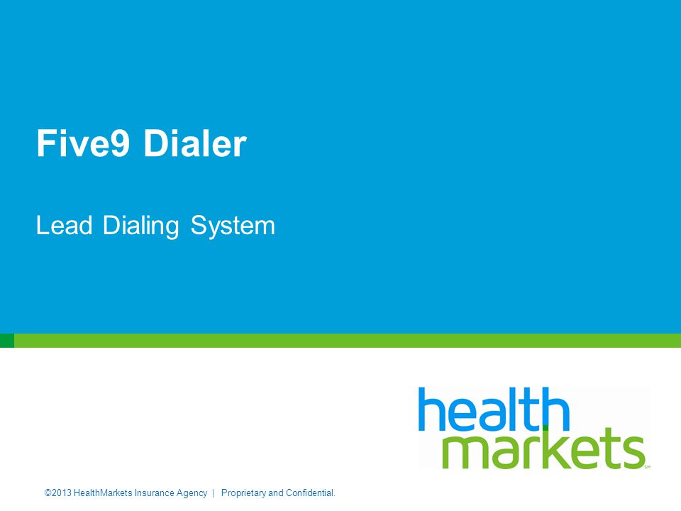 Five9 Dialer Lead Dialing System