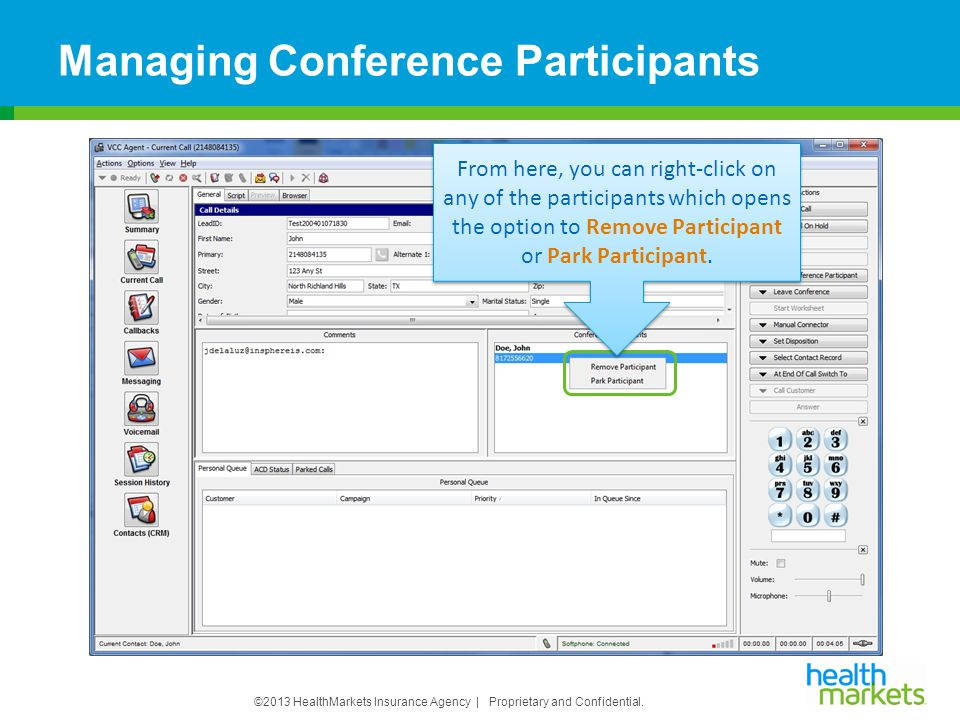 Managing Conference Participants