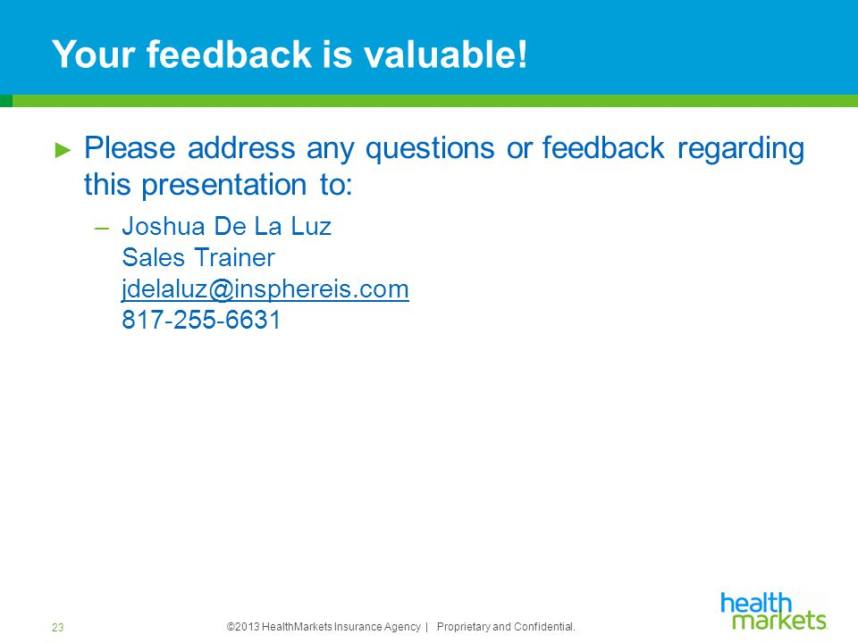 Your feedback is valuable!