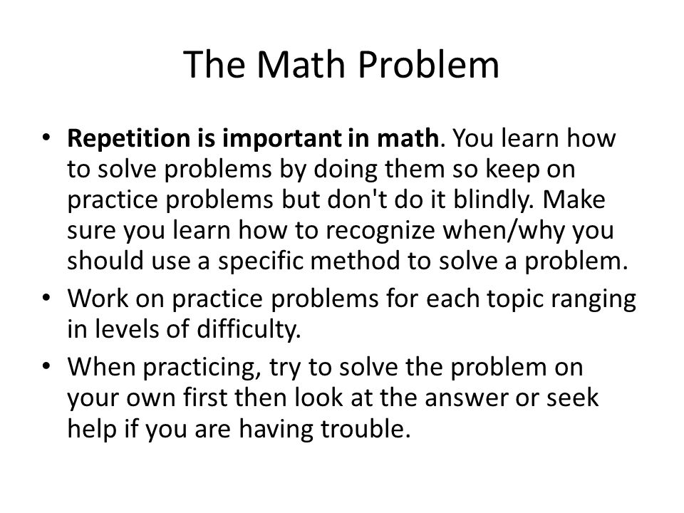 The Math Problem
