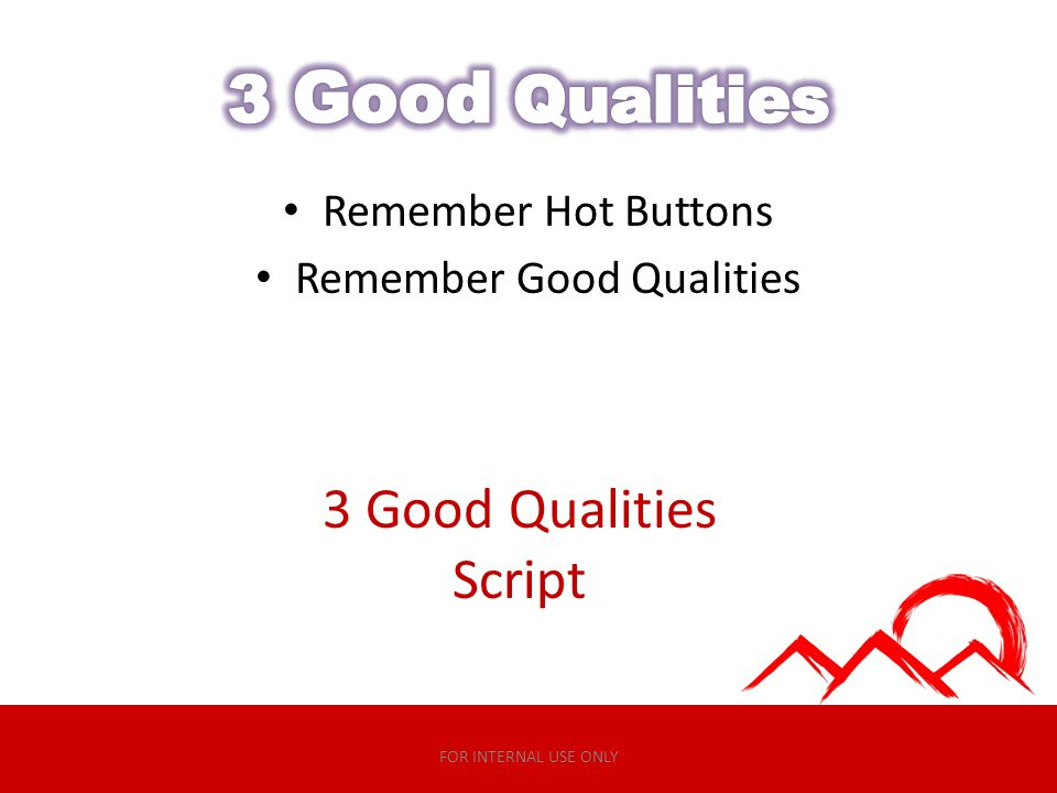 Remember Good Qualities