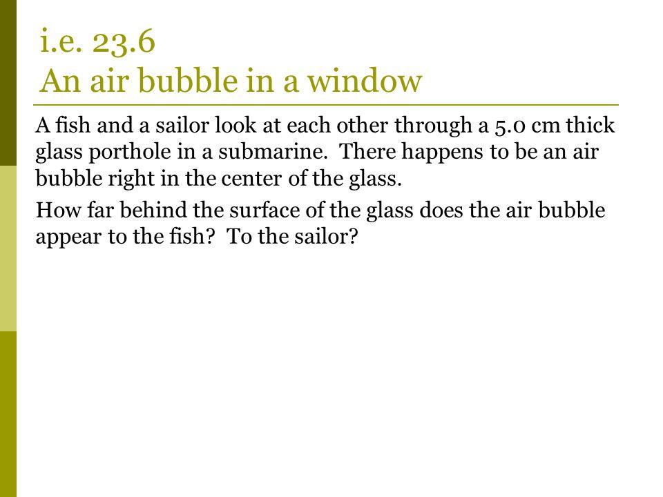 i.e. 23.6 An air bubble in a window