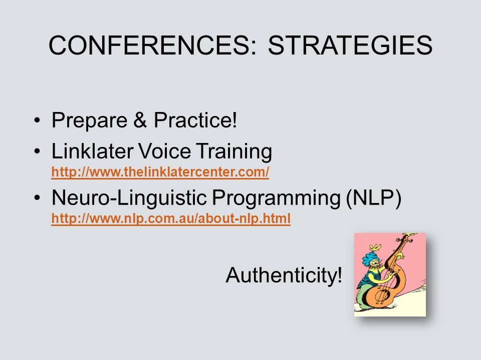 CONFERENCES: STRATEGIES
