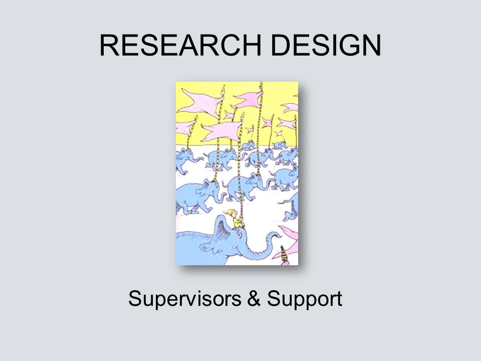 RESEARCH DESIGN Supervisors & Support