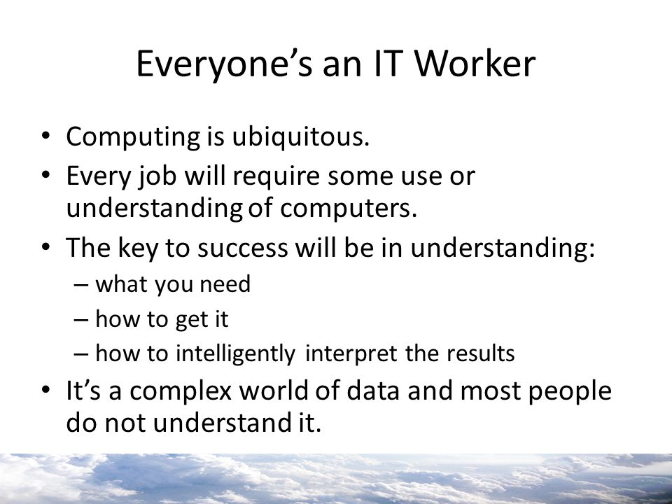 Everyone's an IT Worker