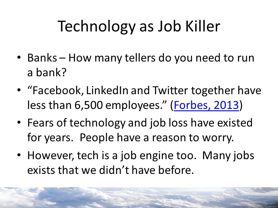 Technology as Job Killer