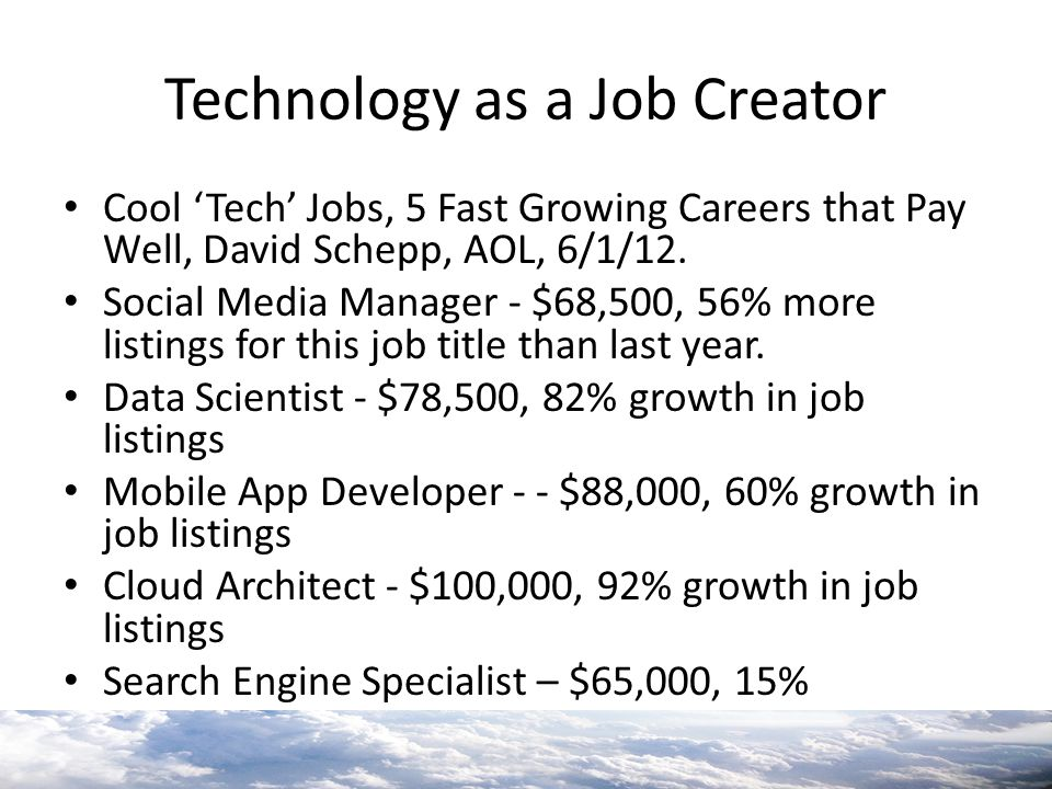 Technology as a Job Creator