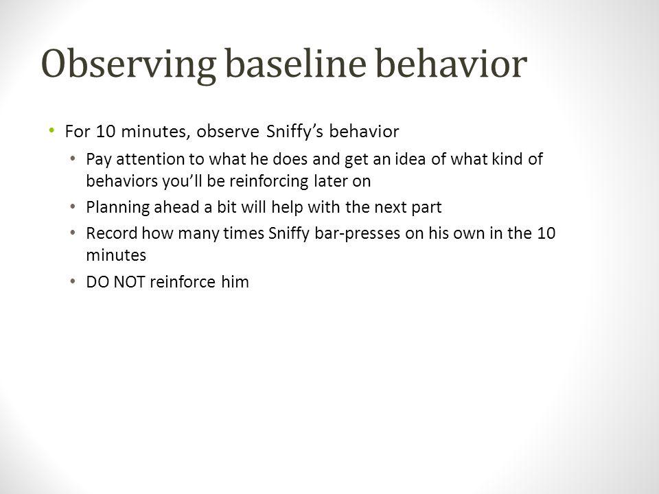 Observing baseline behavior
