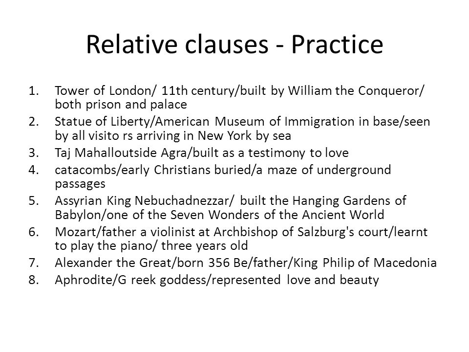 Relative clauses - Practice