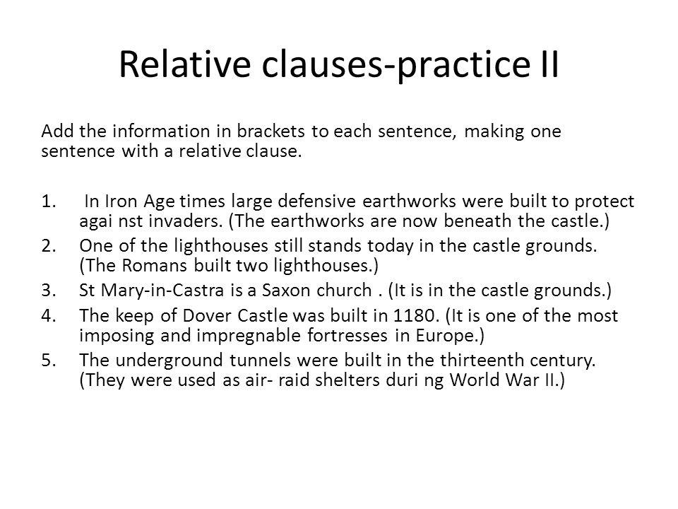 Relative clauses-practice II