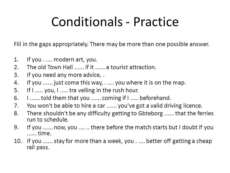 Conditionals - Practice