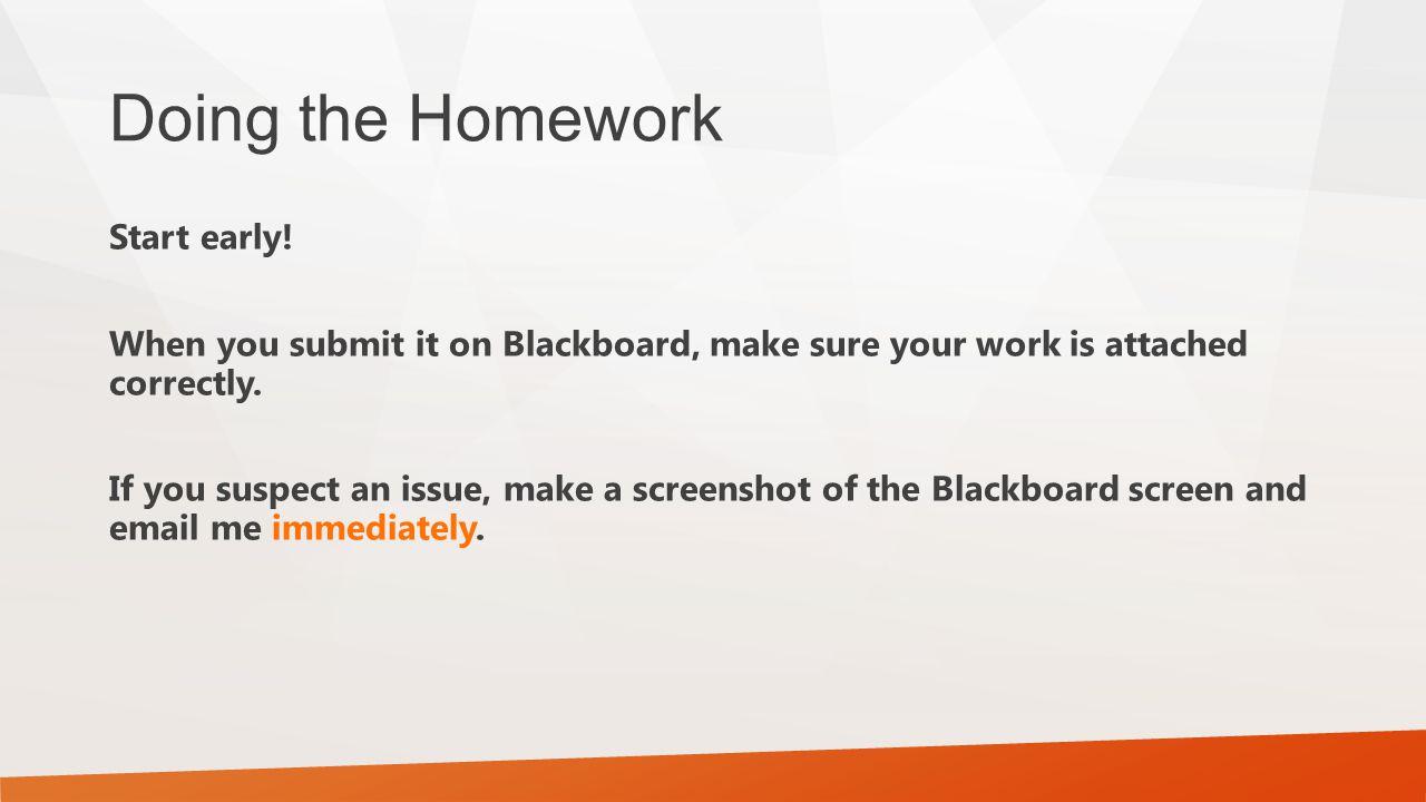 Doing the Homework