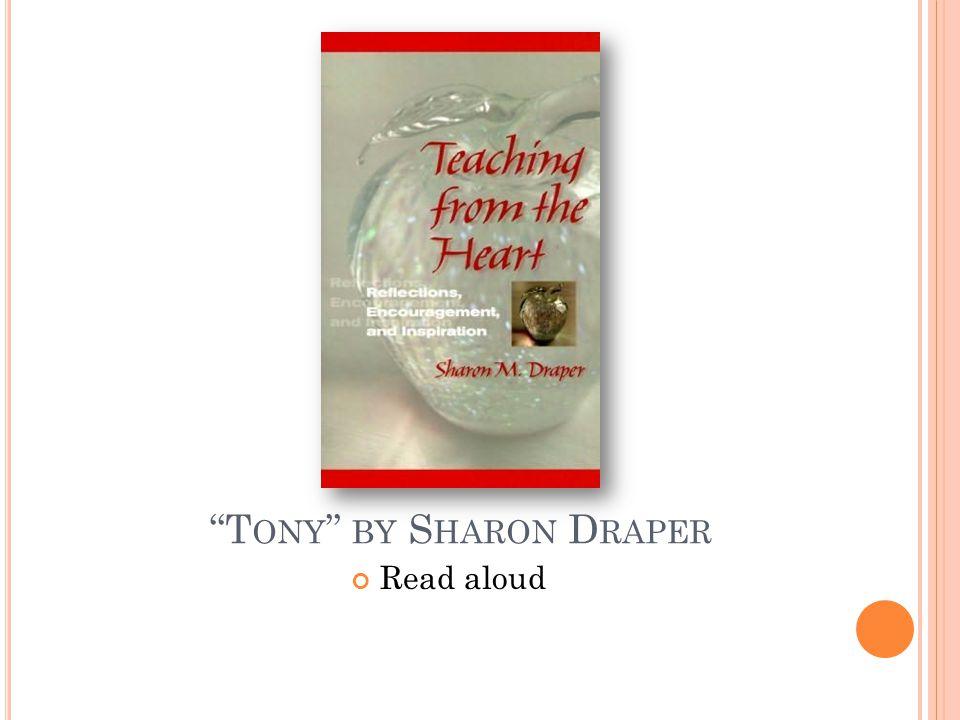 Tony by Sharon Draper