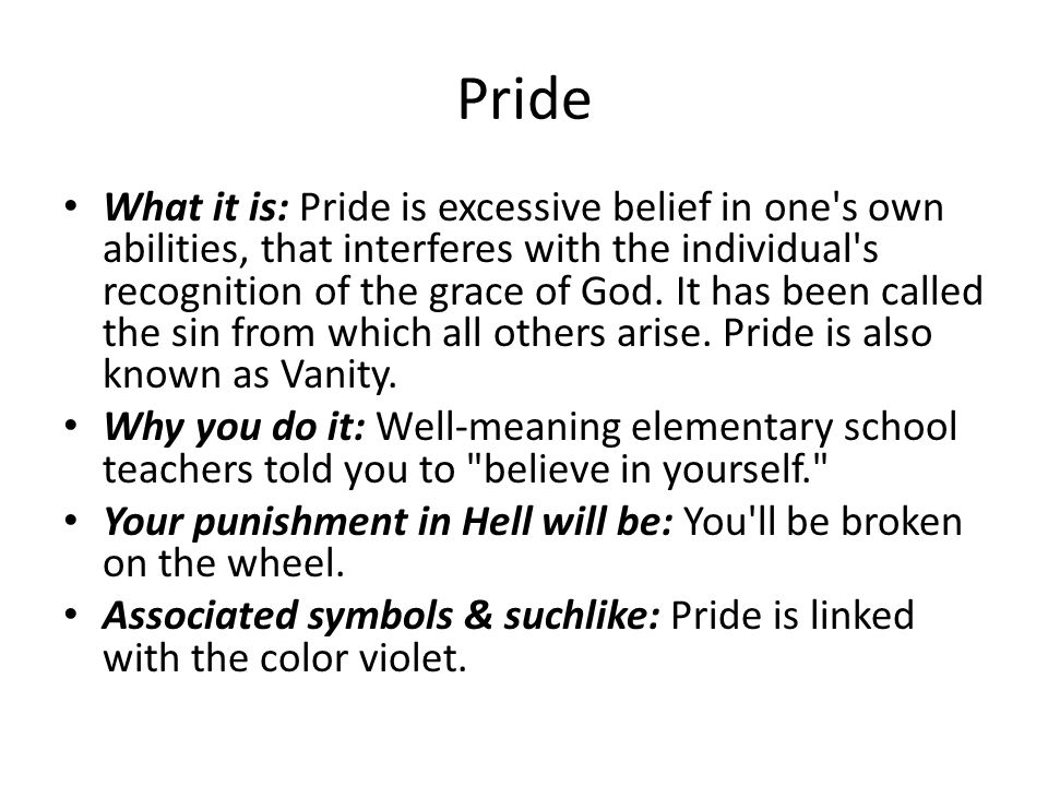 sin about take great pride in explanation essay