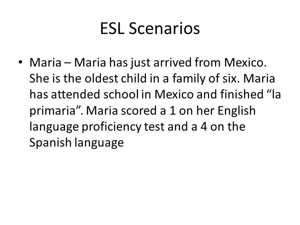 ESL Scenarios