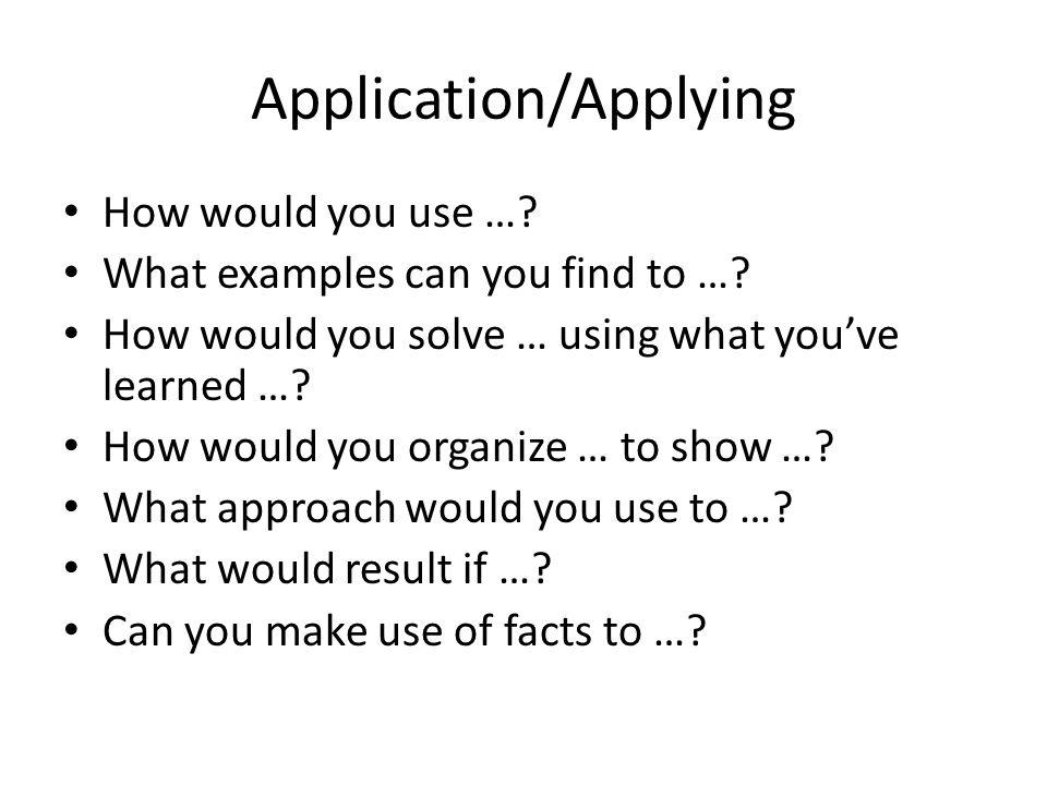 Application/Applying