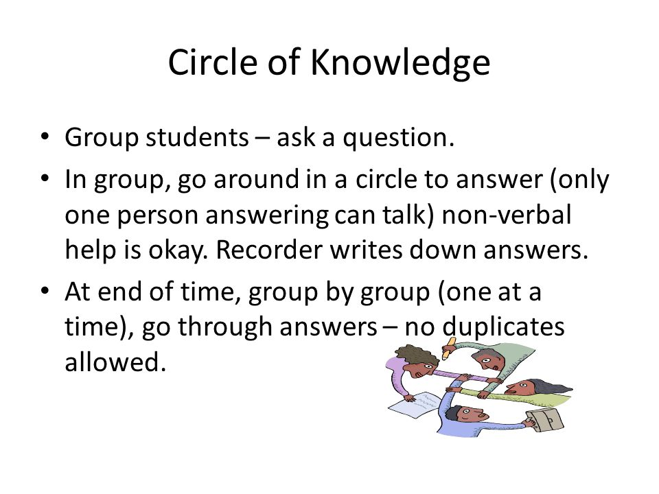 Circle of Knowledge Group students – ask a question.