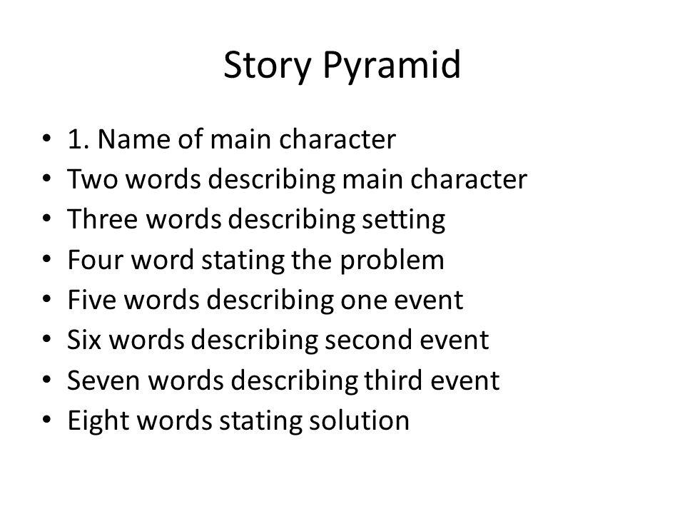 Story Pyramid 1. Name of main character