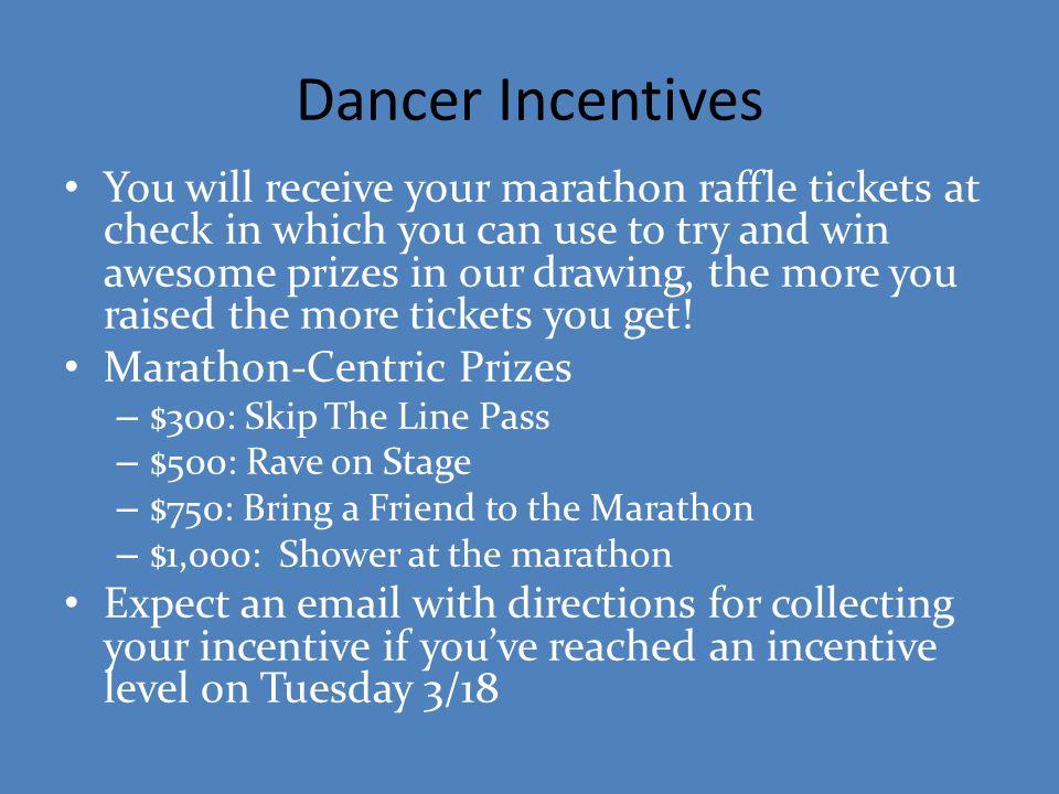 Dancer Incentives