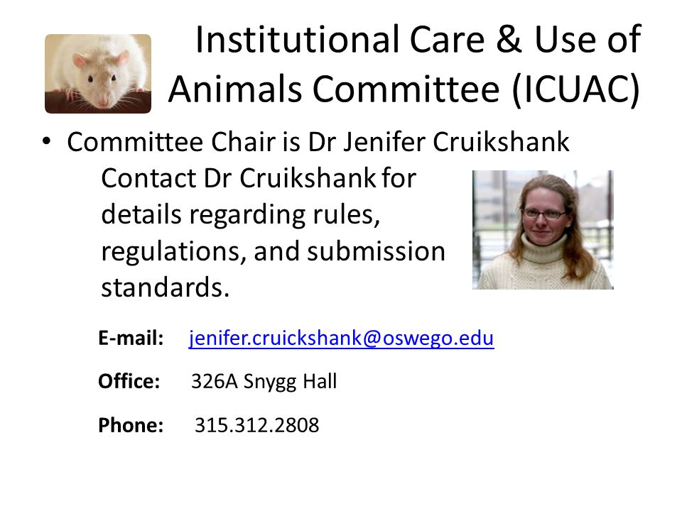 Institutional Care & Use of Animals Committee (ICUAC)
