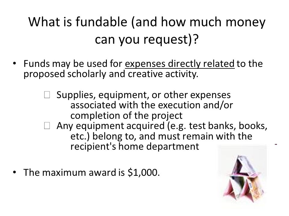 What is fundable (and how much money can you request)