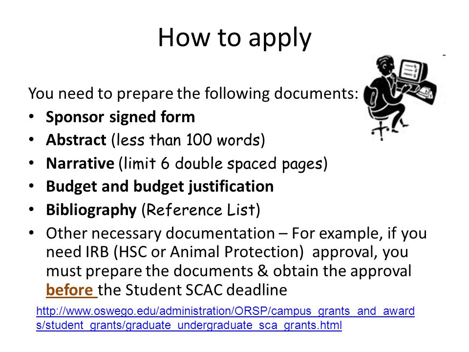 How to apply You need to prepare the following documents: