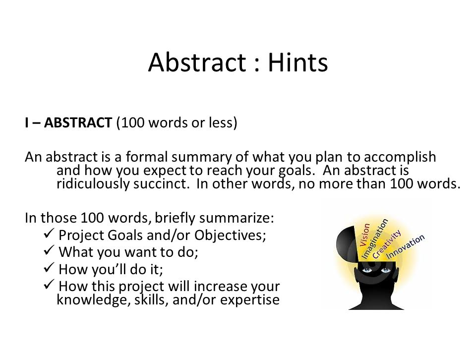 Abstract : Hints