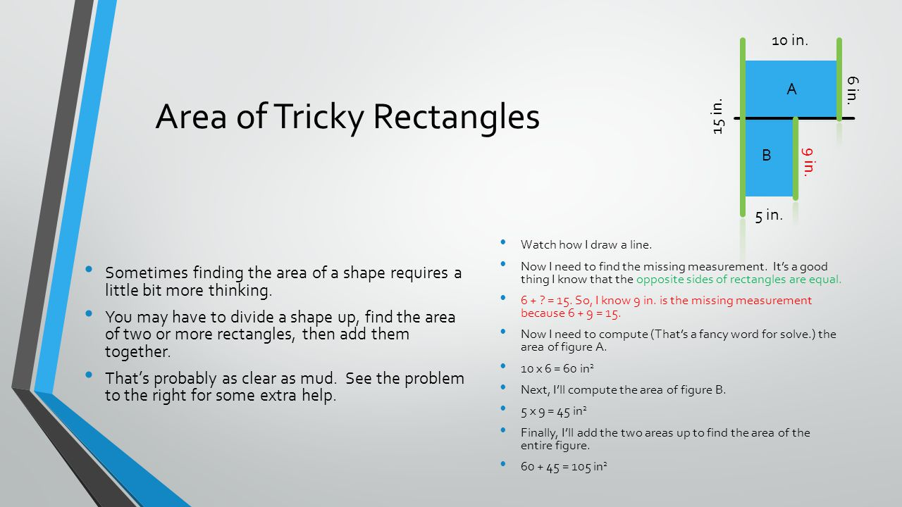 Area of Tricky Rectangles