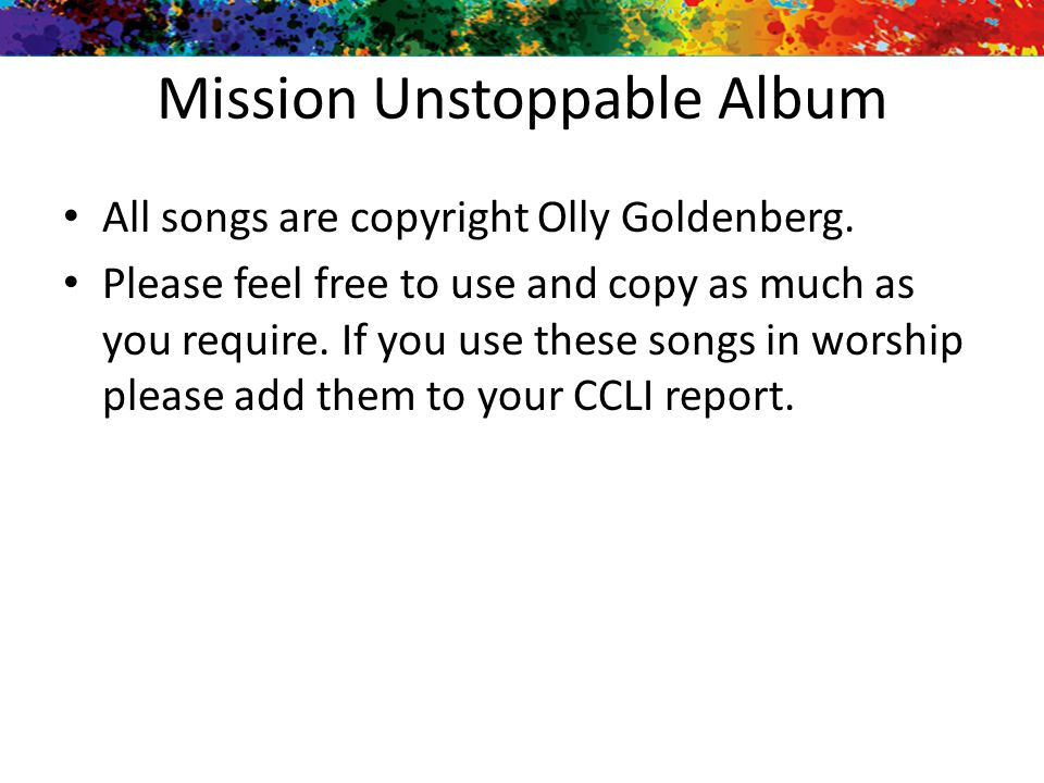 Mission Unstoppable Album
