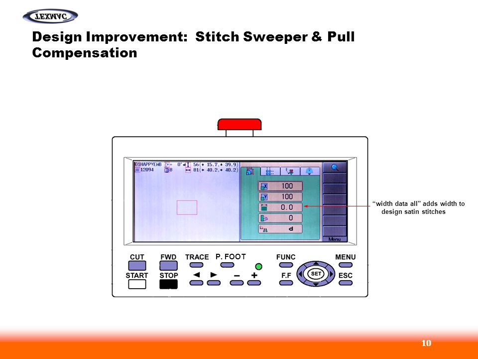 Design Improvement: Stitch Sweeper & Pull Compensation