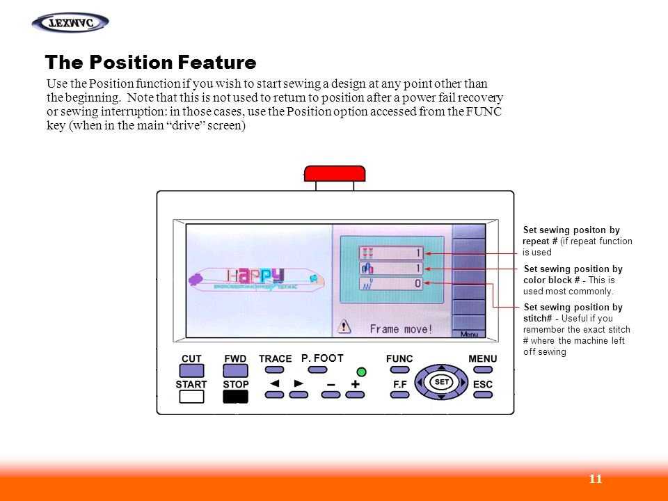The Position Feature