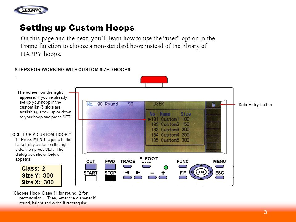Setting up Custom Hoops