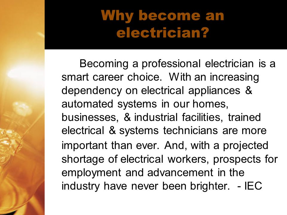 Why become an electrician