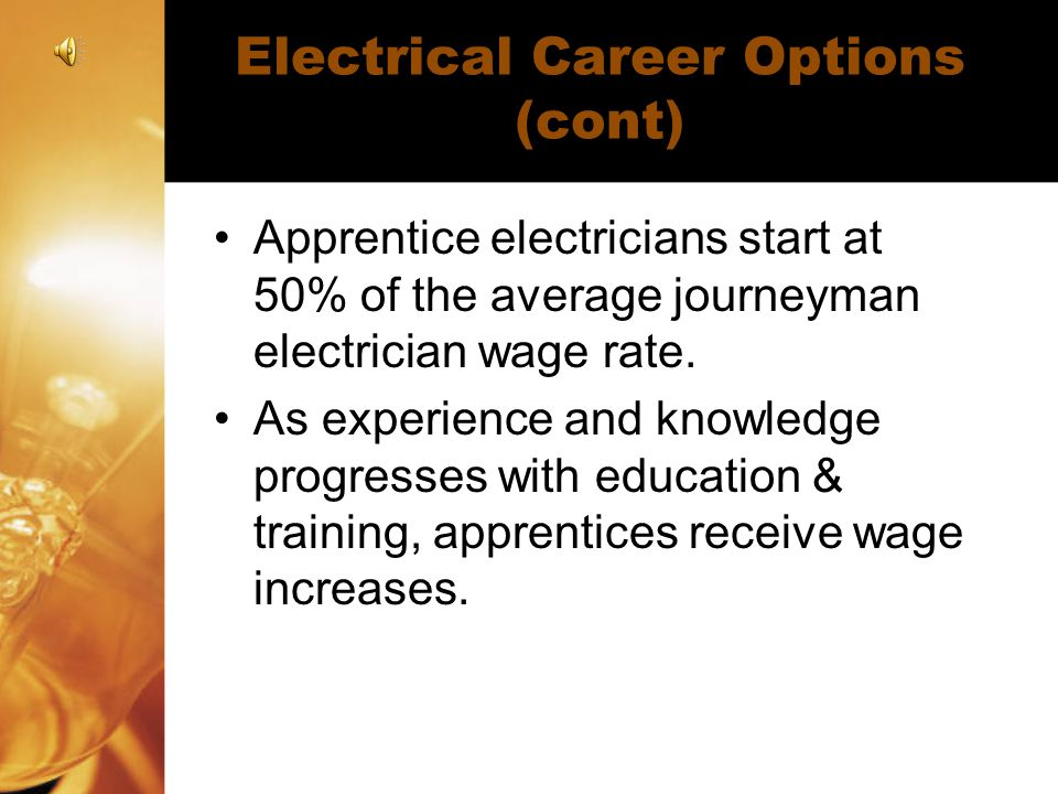Electrical Career Options (cont)