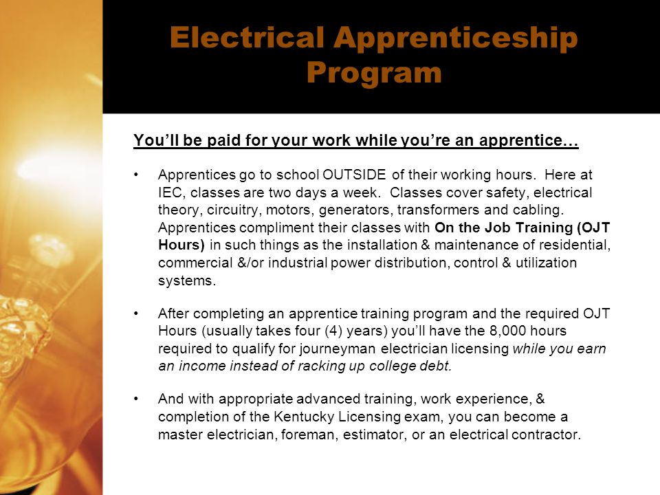 Electrical Apprenticeship Program
