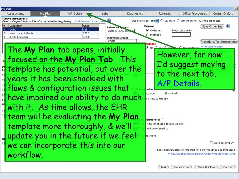The My Plan tab opens, initially focused on the My Plan Tab