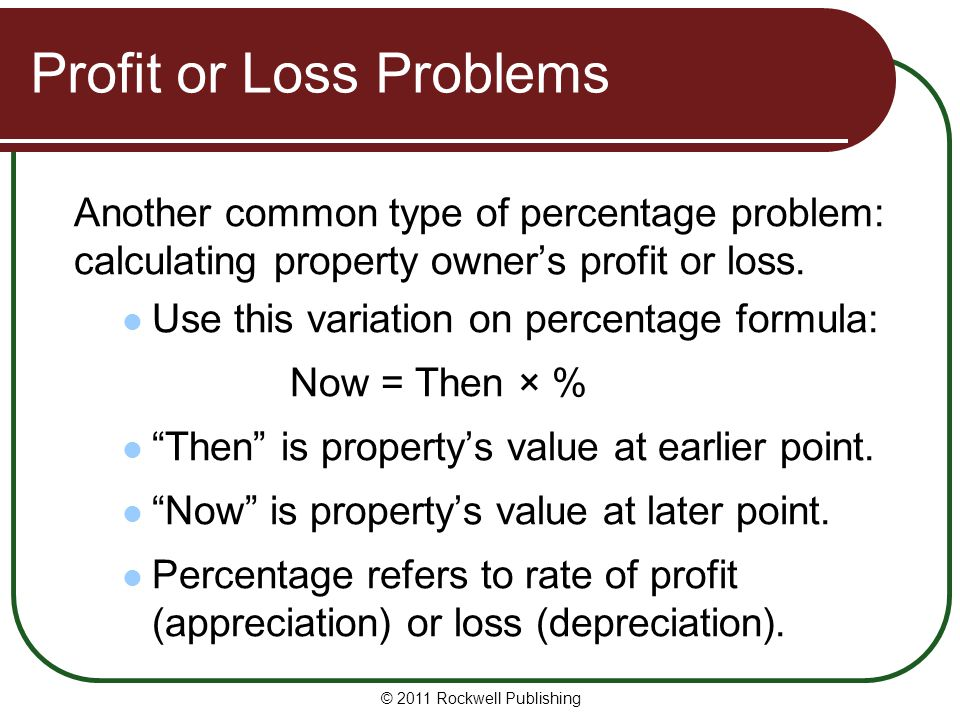 Profit or Loss Problems